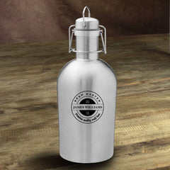 Personalized Stainless Steel Beer Growler - BrewMaster - Personalized Barware - AGiftPersonalized