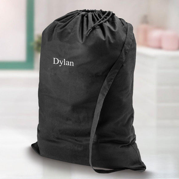 Personalized Laundry Bag - Black - JDS