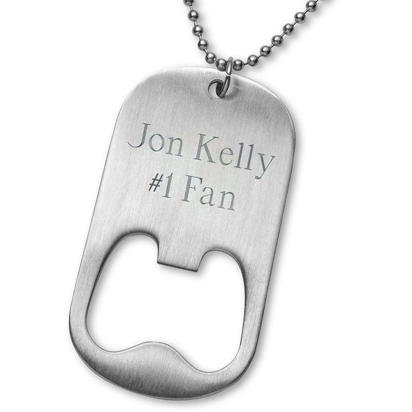 Personalized NFL Team Logo Bottle Opener Necklace -  - JDS
