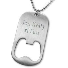 Personalized Bottle Opener - NFL - Necklace - Team Logo -  - Professional Sports Gifts - AGiftPersonalized