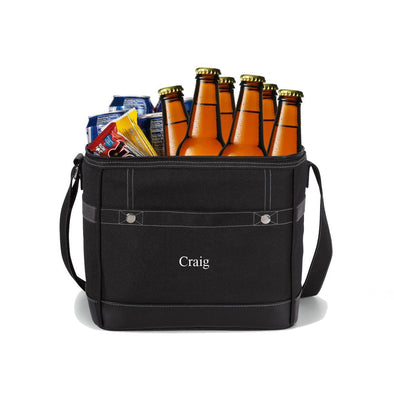 Personalized Trail Cooler - Insulated Cooler Bag Holds 12 Pack - Black - JDS
