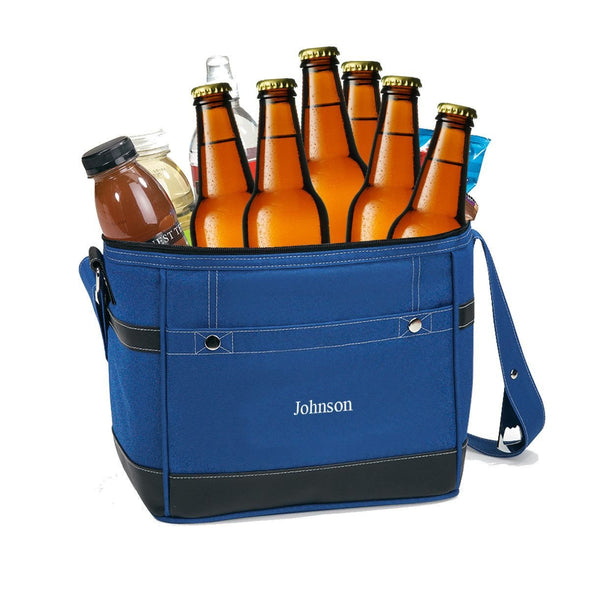 Personalized Insulated Trail Cooler -  Holds 12 Pack - Blue - JDS