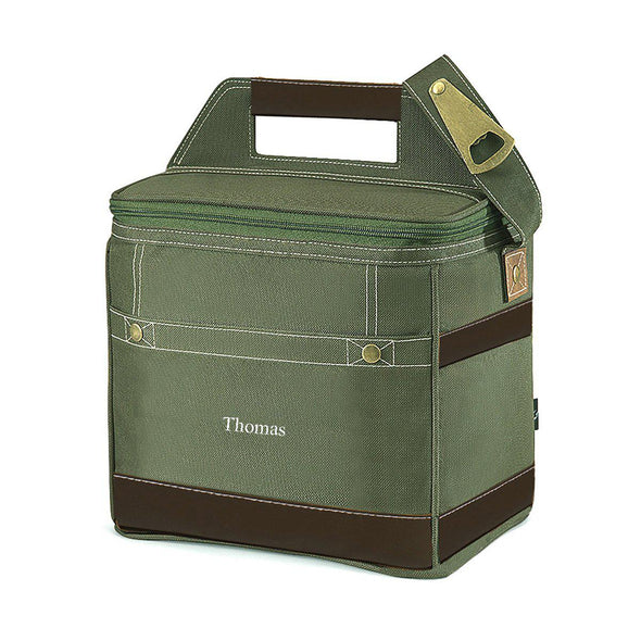 Personalized Insulated Trail Cooler -  Holds 12 Pack - Khaki - JDS