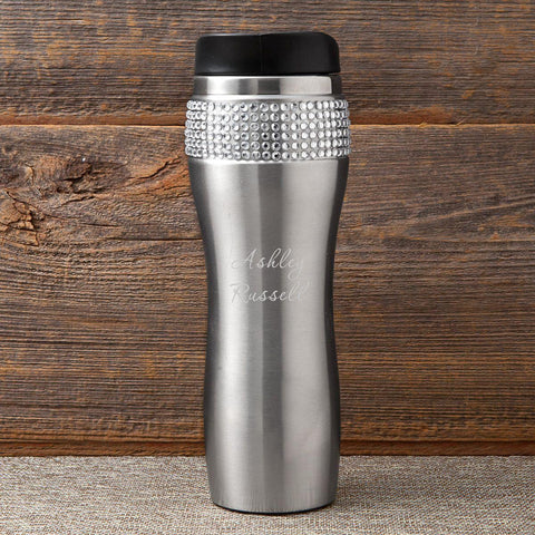 Personalized Bling Travel Tumbler -  - Gifts for Her - AGiftPersonalized