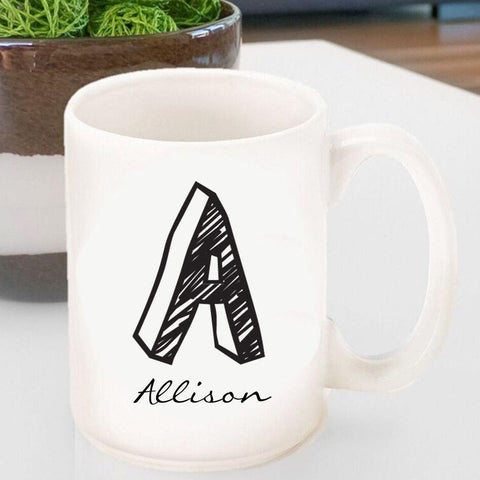 Personalized Coffee Mug - Monogrammed - Ceramic -  - Home Decor - AGiftPersonalized