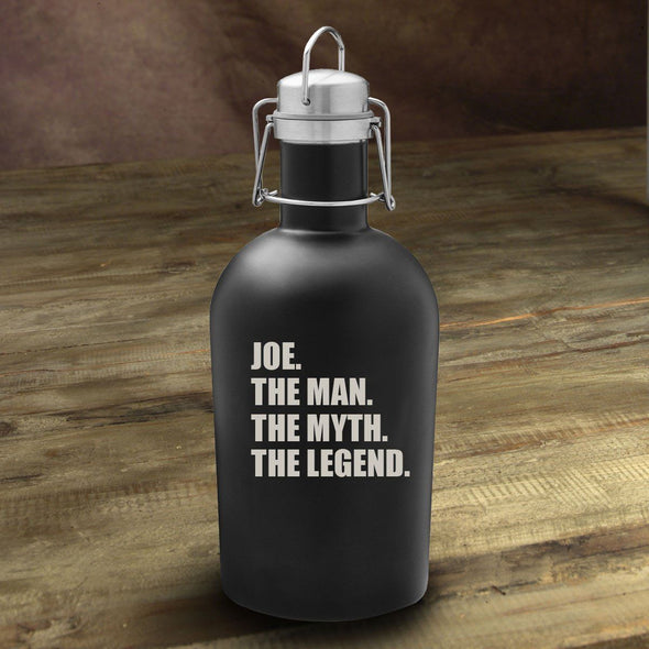 The Man. The Myth. The Legend Matte Black Growler -  - JDS
