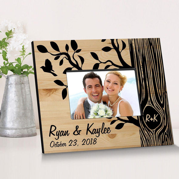 Personalized Tree of Love Wooden Picture Frame -