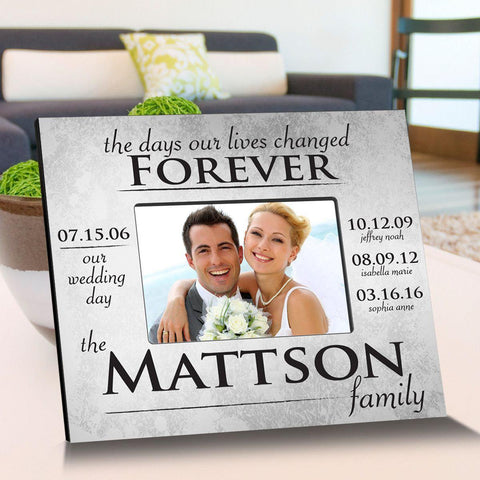 Personalized The Day Our Lives Changes Picture Frame -  - Frames - AGiftPersonalized