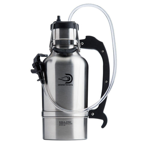 Monogram Brushed Stainless DrinkTanks® 64 oz. Insulated Growler -