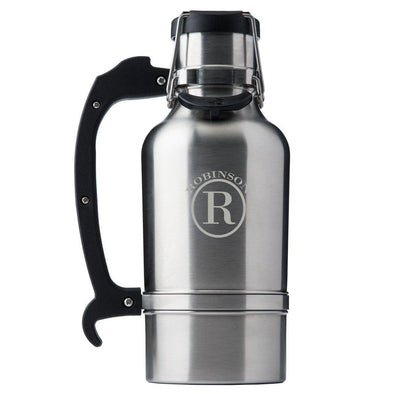 Custom Brushed Stainless DrinkTanks® 64oz. Insulated Growler - Circle - DrinkTanks