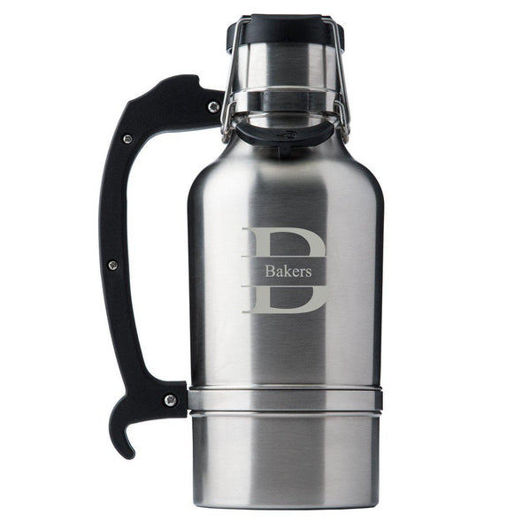 Custom Brushed Stainless DrinkTanks® 64oz. Insulated Growler - Stamped - DrinkTanks