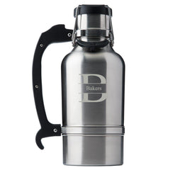 Monogram Brushed Stainless DrinkTanks® 64 oz. Insulated Growler - Stamped