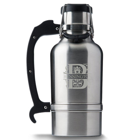 Monogram Brushed Stainless DrinkTanks® 64 oz. Insulated Growler - Filigree