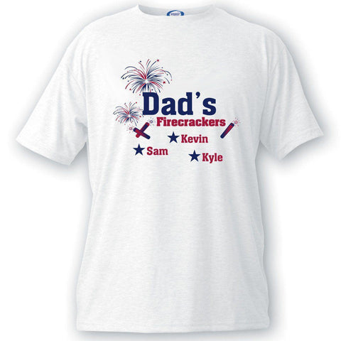 Personalized Dad's Firecrackers T-shirt -