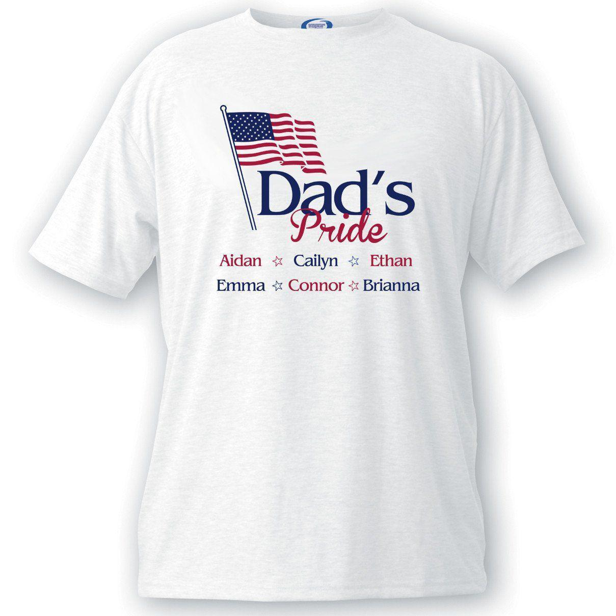 Personalized Dad's Pride Flag T-shirt