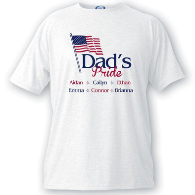 Personalized Dad's Pride Flag T-shirt -  - JDS