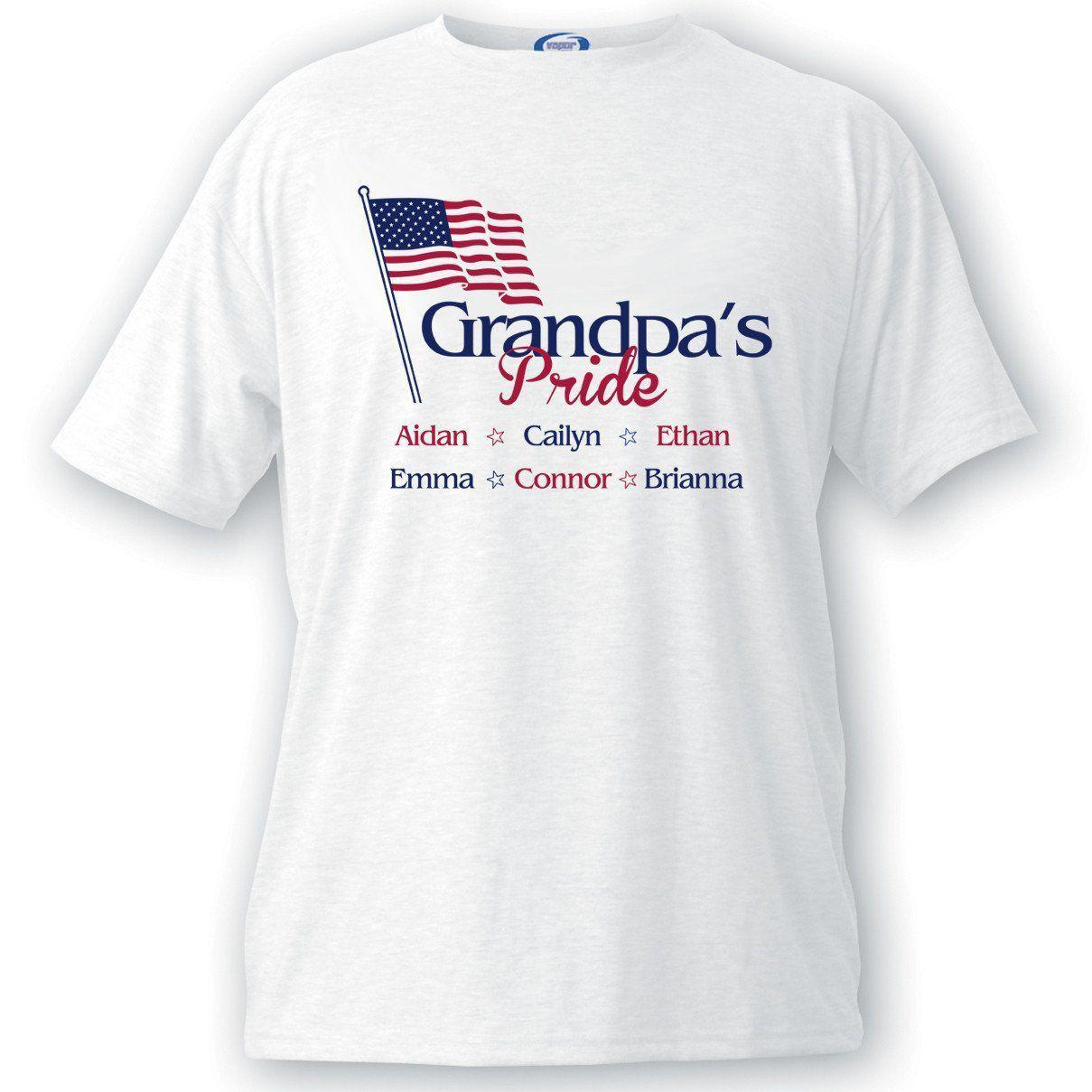 Personalized Grandpa's Pride Flag T-shirt