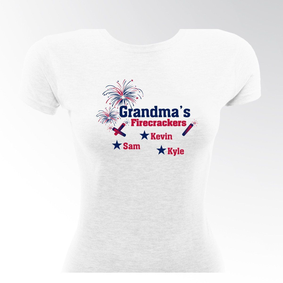 Personalized-Grandmas-Firecrackers-T-shirt