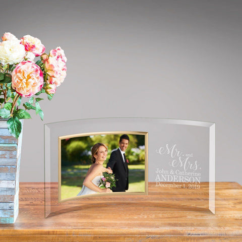 Personalized Mr. & Mrs. Glass Photo Frame -