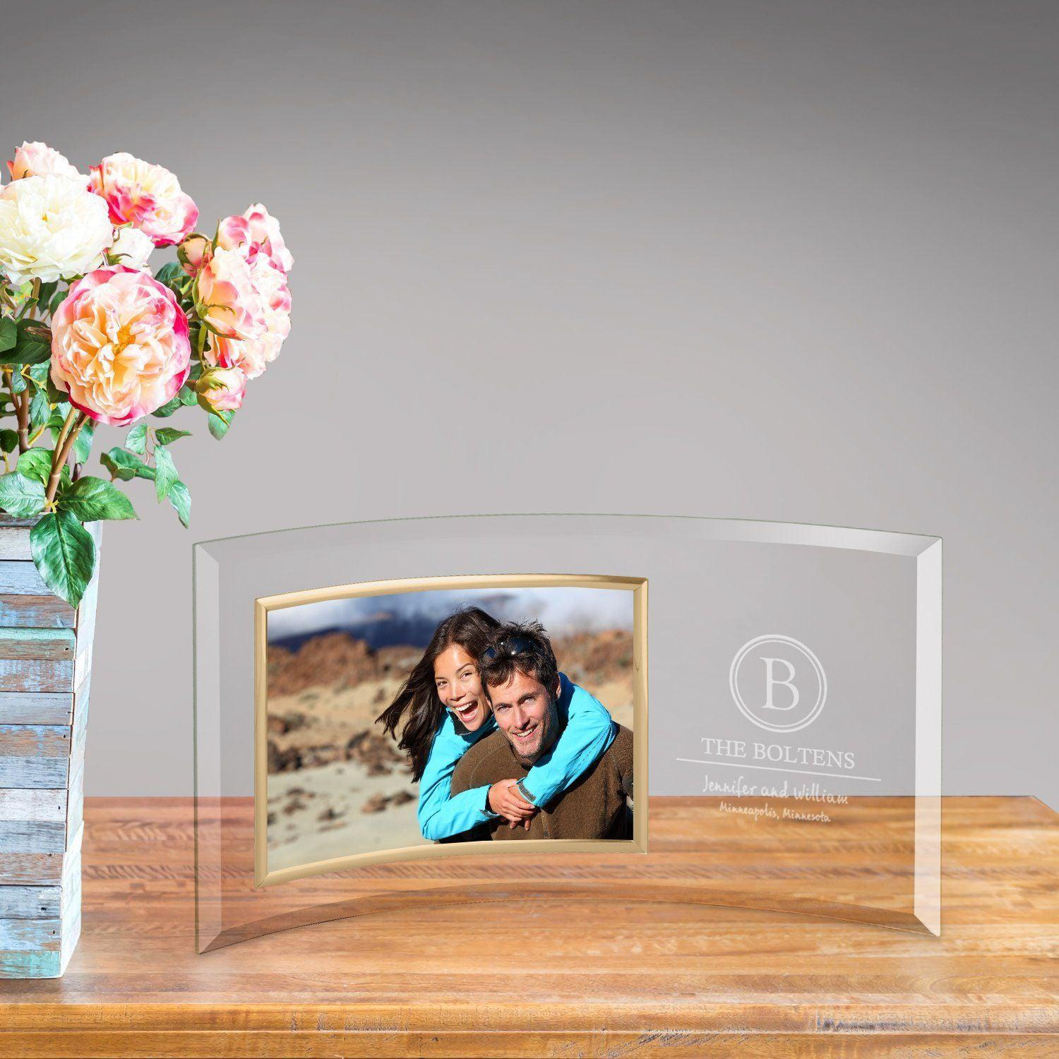 Personalized Family Name Glass Photo Frame