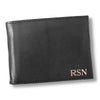 Personalized Black Borello Leather Convertible Wallet - Rosegold - JDS