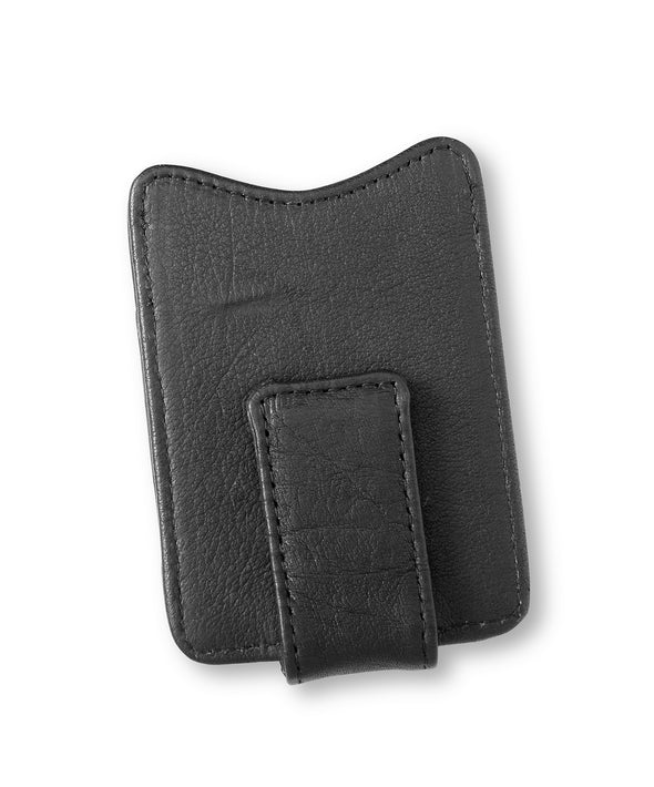 Personalized Black Borello Leather Money Clip -  - JDS