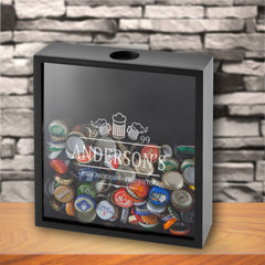 Personalized Groomsmen Beer Bottle Cap Display Shadow Box
