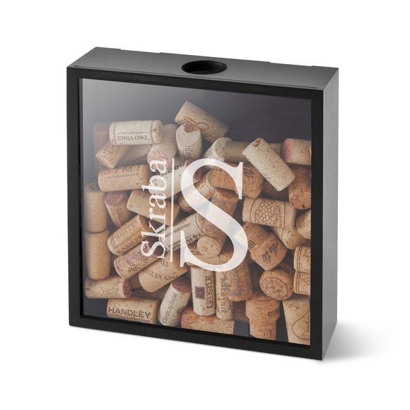 Personalized Wine Cork Display Shadow Box - Modern - JDS