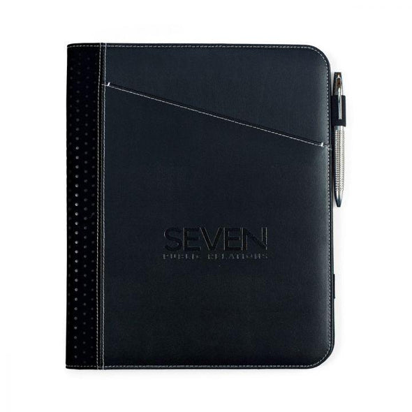 Personalized Borello Cedar Black Leather Writing Pad -  - JDS