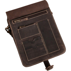Personalized Borello Leather Crossbody  Ipad® Tablet Media Bag -  - Gifts for Her - AGiftPersonalized