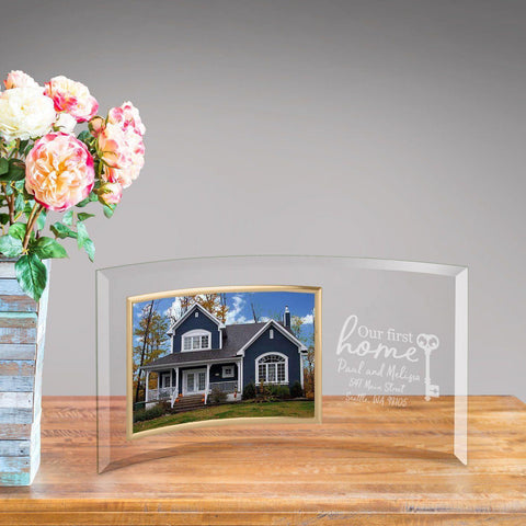 Personalized First Home Glass Photo Frame -  - Frames - AGiftPersonalized