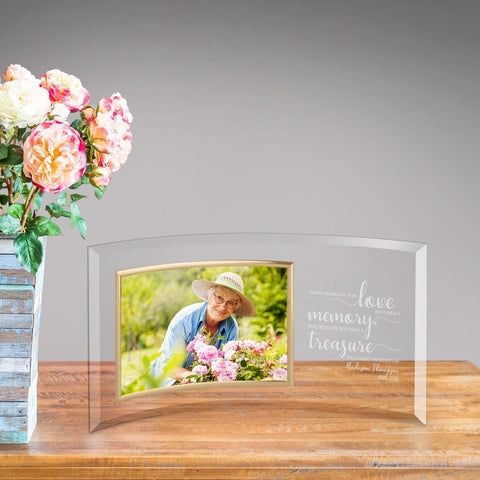 Personalized Treasured Memory Glass Photo Frame -