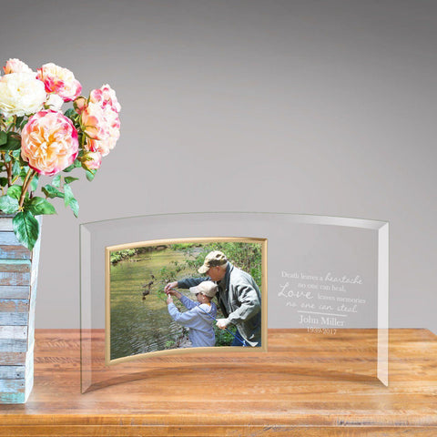 Personalized Loving Memory Glass Photo Frame -  - Frames - AGiftPersonalized