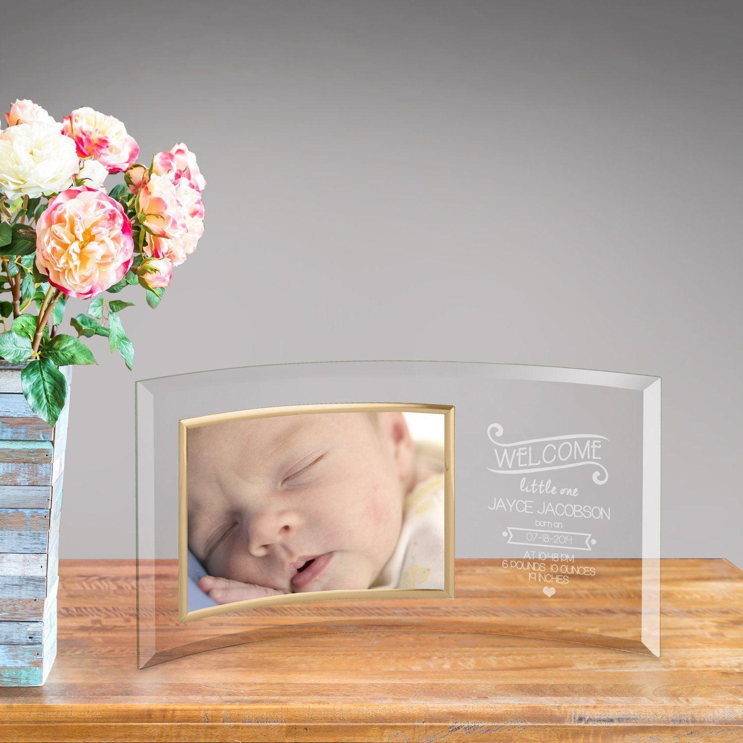 Personalized Welcome Baby Glass Photo Frame