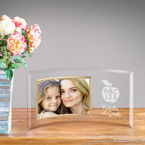 Personalized Glass Picture Frame - ABC 123 -