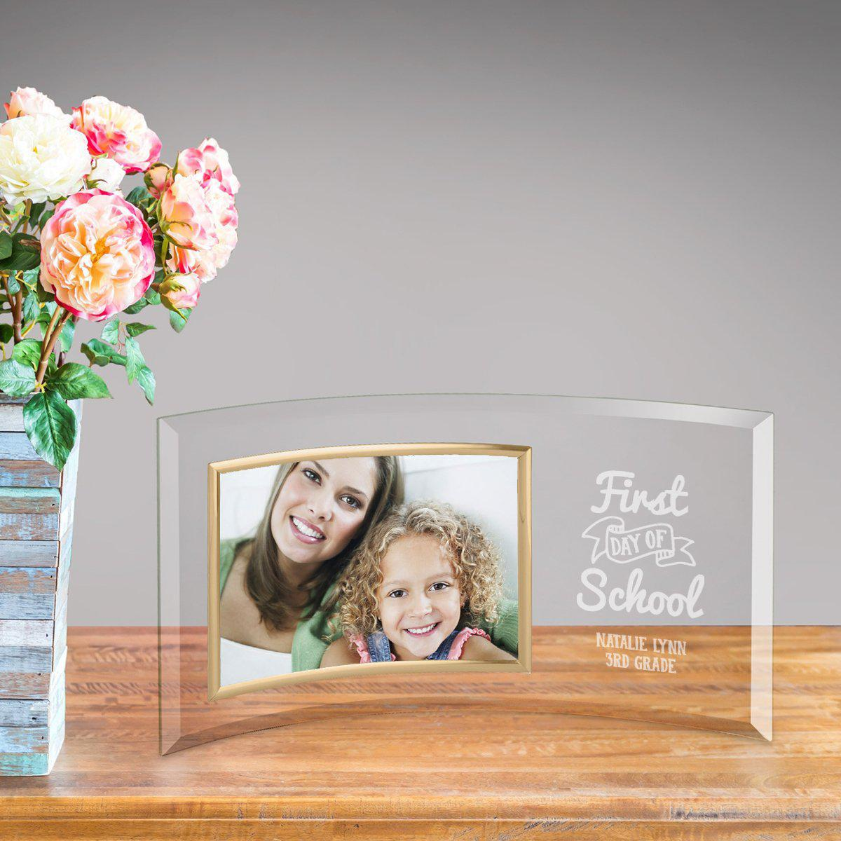 Personalized First Day of School Glass Picture Frame