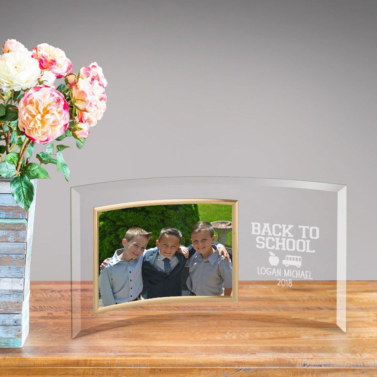 Personalized Back to School Glass Picture Frame