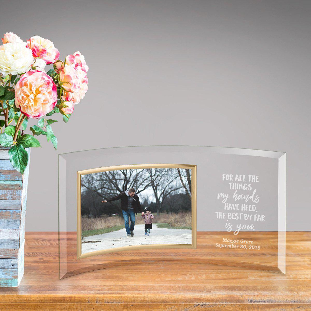 Personalized Glass Picture Frame - Children the Best Is You