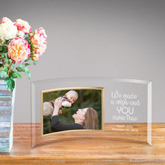 Personalized Glass Picture Frame - Children Our Wish Came True