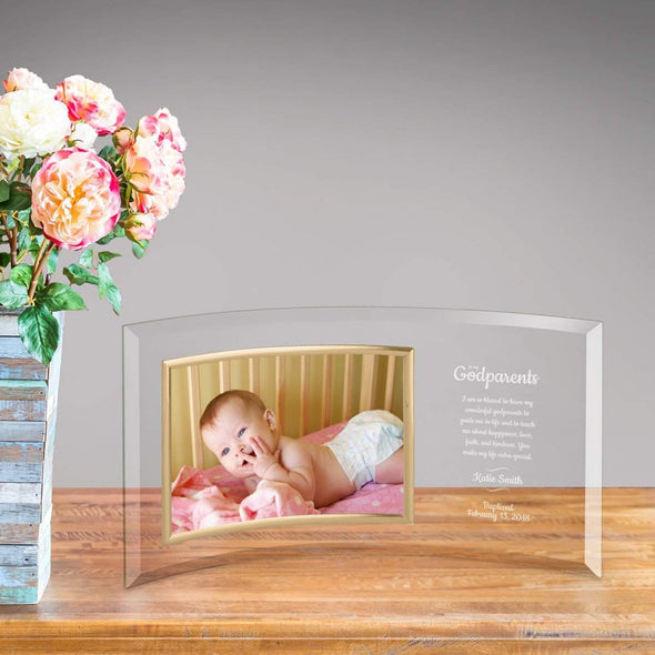 Personalized Godparents Glass Photo Frame -  - JDS