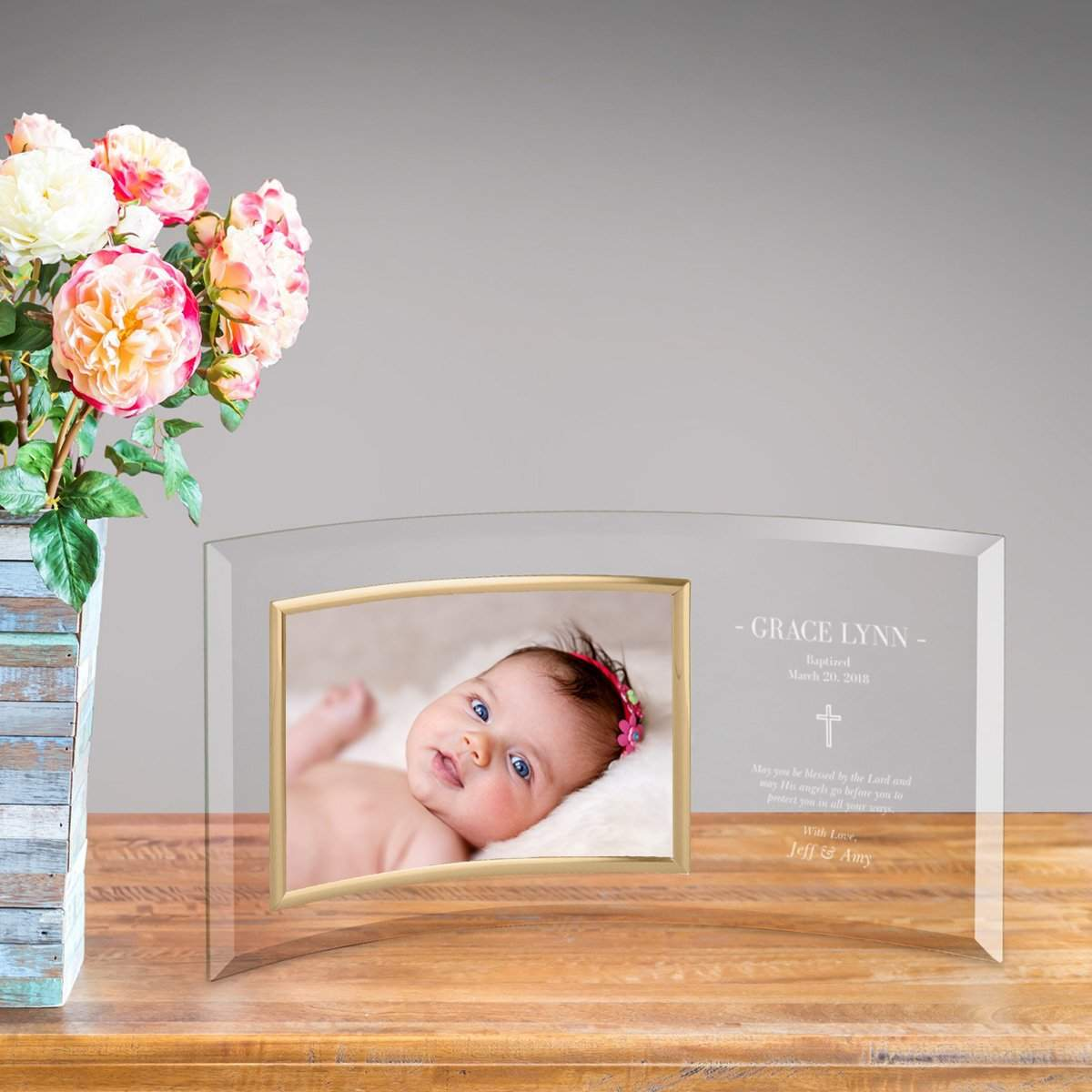 Personalized Baptism Glass Photo Frame
