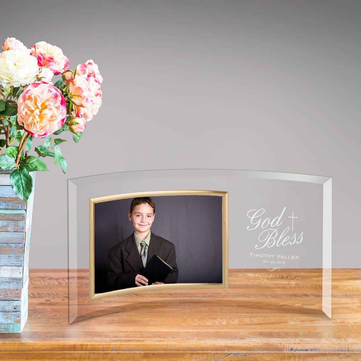 Personalized First Communion Glass Photo Frame