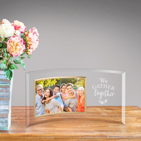 Personalized Glass Picture Frame - We Gather Together at AGiftPersonalized