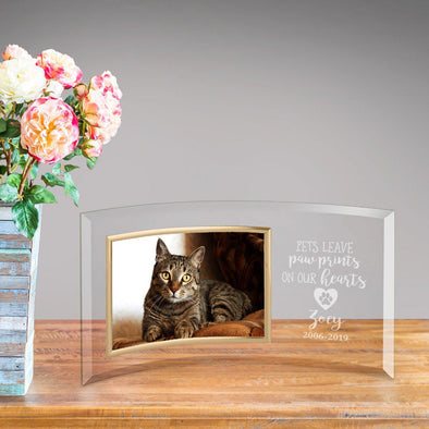 Personalized Paw Prints Glass Photo Frame -  - JDS