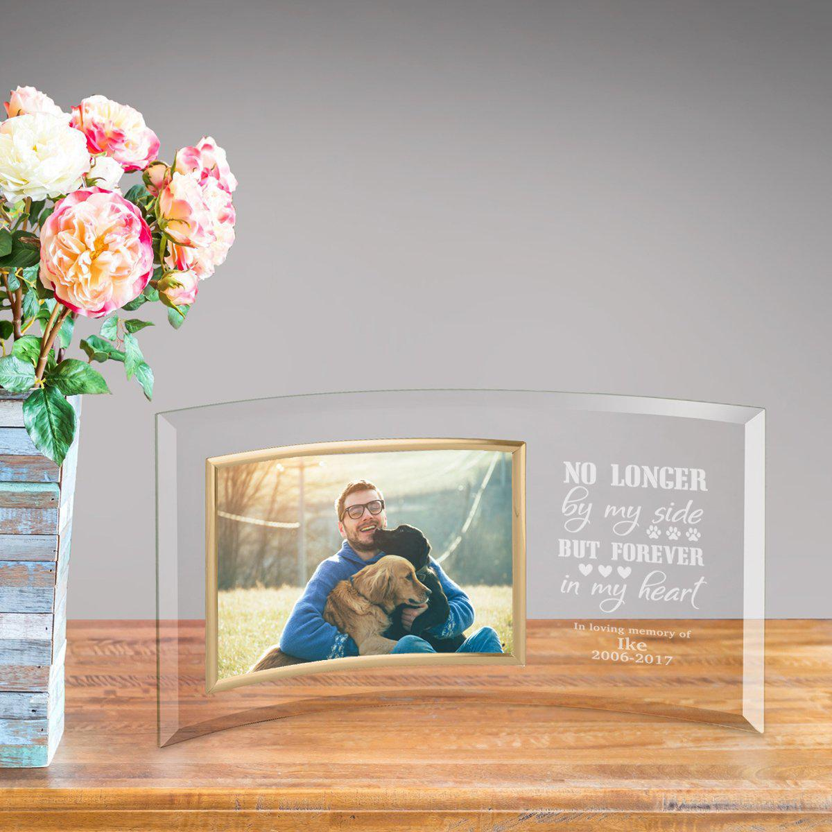 Personalized Pet Memory Glass Photo Frame