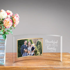 Personalized Glass Picture Frame - Thankful for Our Family at AGiftPersonalized