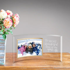Personalized Glass Picture Frame - The Most Wonderful Time of The Year -
