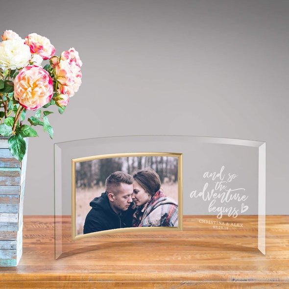 Personalized Adventure Begins Glass Photo Frame -  - JDS