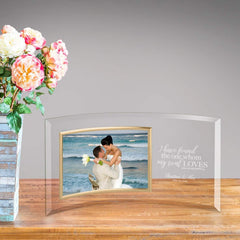 Personalized Song of Solomon Glass Photo Frame