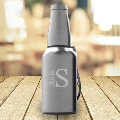 Personalized Insulated Stainless Steel Mighty Growler - Modern - JDS